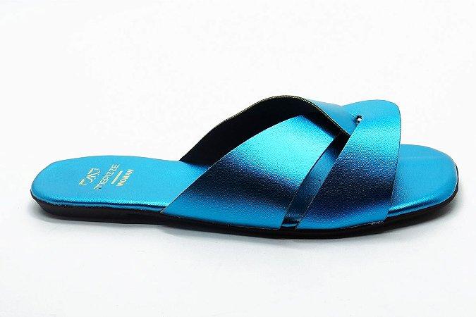 Rasteira fabricação própria Azul claro bq-03