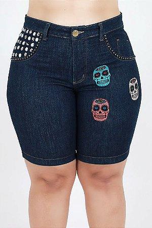 Bermuda Jeans Pedal Customizada Plus Size