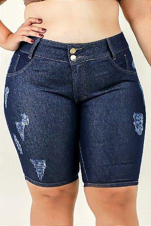 Bermuda Jeans detonata Plus Size