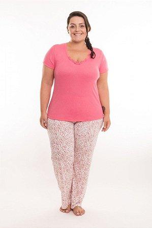 Pijama Plus Size VISCOSE FLORES