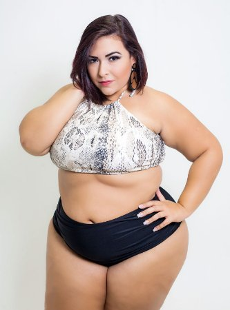 Top Cropped Cobra Plus Size