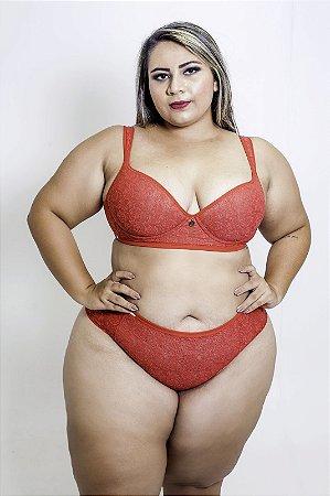 Conjunto Rendão Vermelho Plus Size