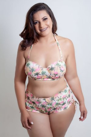 Tanga Shortinho Flamingo  Plus Size