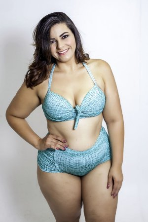 Tanga Hotpants  Verde  Plus Size