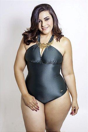 Maiô Glamour Verde Plus Size