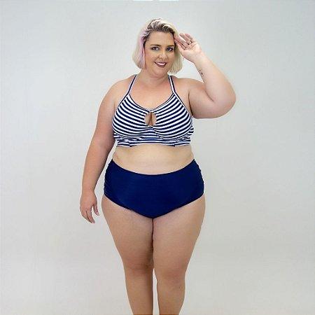 Tanga Hotpants Azul Marinho Plus Size