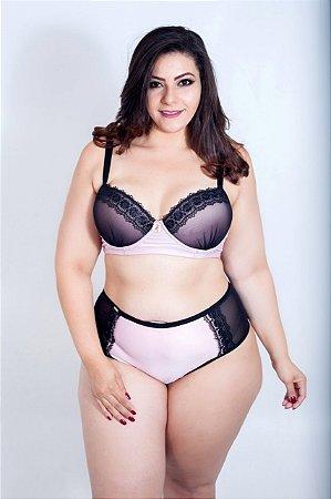 Conjunto Guipir Rosa Plus Size