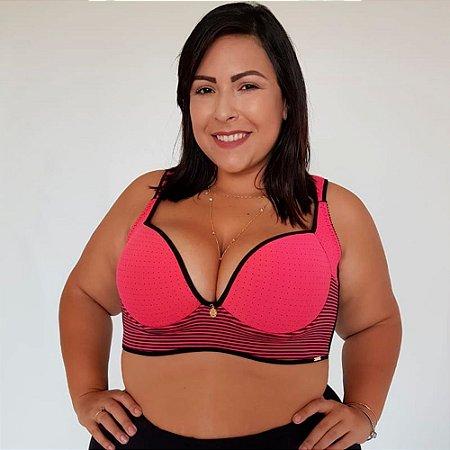 Sutiã Sofia com Bojo Plus Size Poa