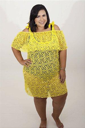 Saída de Banho 2 em 1 Plus Size Amarela