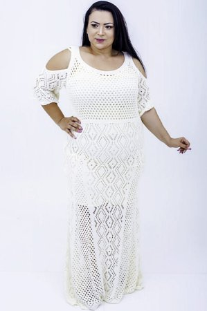 Vestido Longo Tricô Vanessa Plus Size