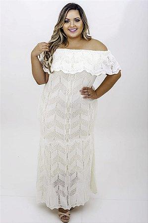 Vestido Helena Tricô Ciganinha Plus  Size
