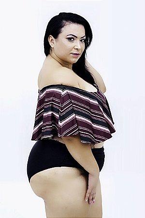 Tanga Hotpants Franzida Preta Plus Size