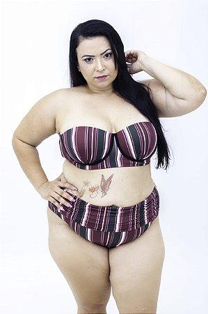 Tanga Hotpants Listras Franzida Plus Size