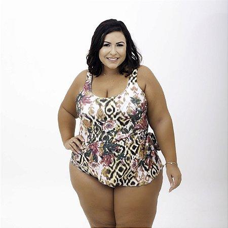Maiô Saia Estampado Plus Size