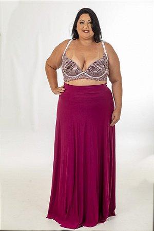 add643948af3 Saia Longa Malha Vinho Plus Size - Somosplus | Loja de moda Plus ...