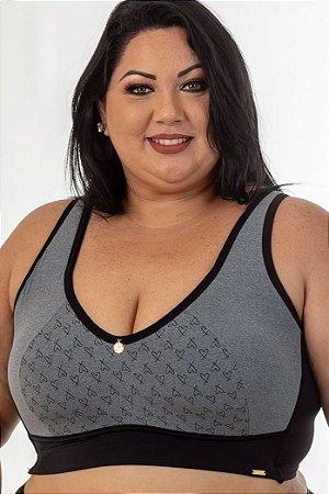 Top Croped Regina Mescla Plus Size