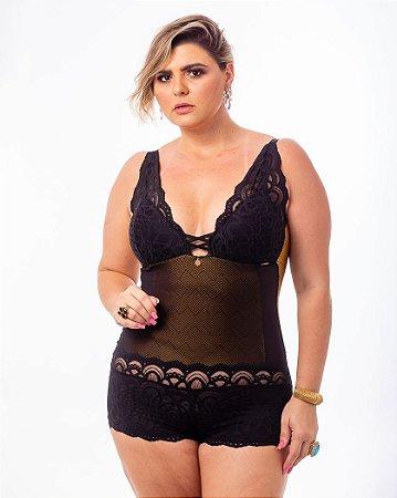 Body Sissia Ouro Plus Size