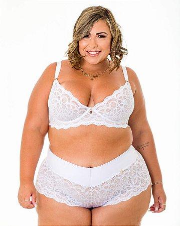 Sutiã Isadora Branco Sem Bojo Plus Size