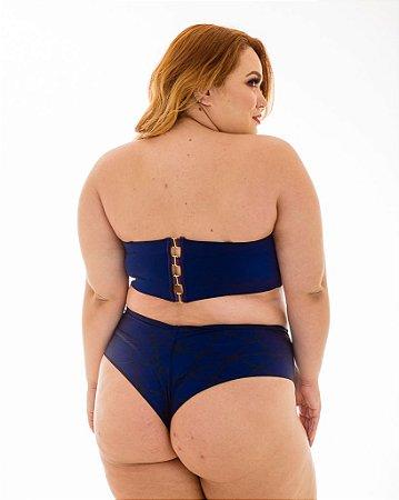 Tanga Mayara Fio Azul Plus Size