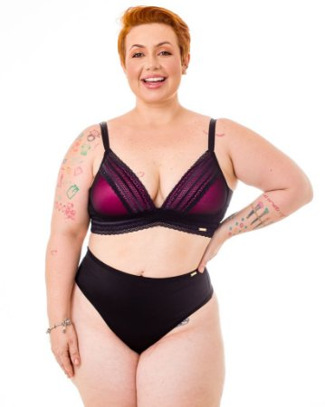 Sutiã Decote Anne Rosa Plus Size