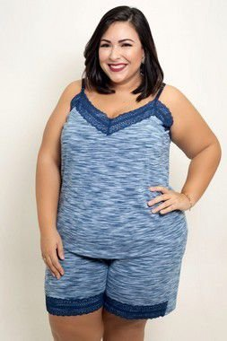 Baby Doll Com Renda Plus Size