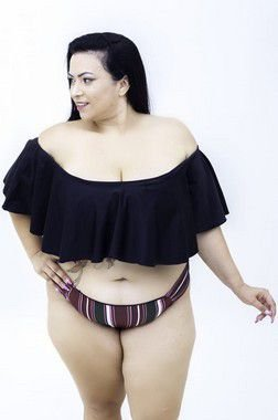 Top Ciganinha cores variadas liso Plus Size