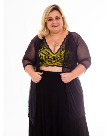 KImono Arrastao Luciana Plus Size