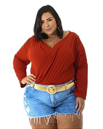 Short Jeans Desfiado Plus Size