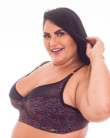 Sutiã Maravilha sem bojo Cobra ou Vinho Nude Plus Size