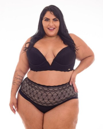 Sutiã Olivia Decote Profundo Plus Size