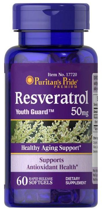 Resveratrol 50mg | 60 Cápsulas - Puritan's Pride