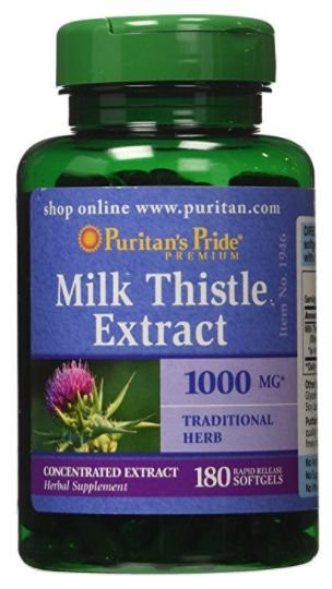 Cardo Mariano 1000mg (Milk Thistle) | 180 Softgels - Puritan's Pride