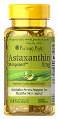 Astaxantina Natural 5mg | 60 Cápsulas - Puritan's Pride