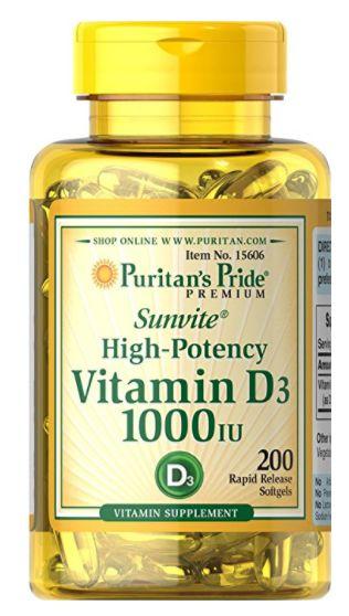 Vitamina D3 1.000 ui | 200 Softgels - Puritan's Pride