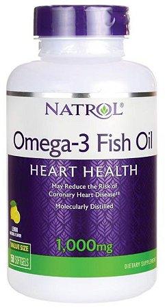 Omega-3 1000mg (sabor limão) | 150 Softgels - Natrol