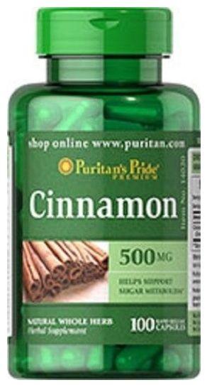 Cinnamon (Canela) 500mg | 100 Cápsulas - Puritan's Pride