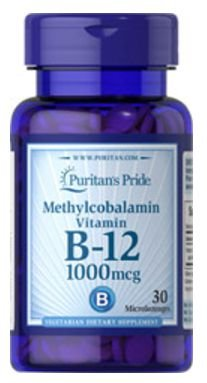 Vitamina B-12 1.000mcg (Methylcobalamin) | 30 Tablets - Puritan