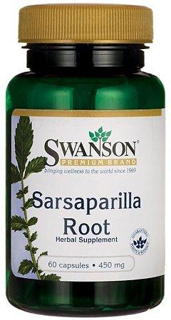Sarsaparilha (Sarsaparilla) 450mg | 60 Cápsulas - Swanson