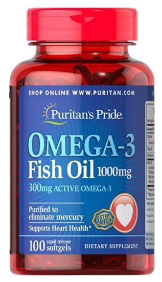 Omega-3 1000mg| 100 Softgels - Puritan