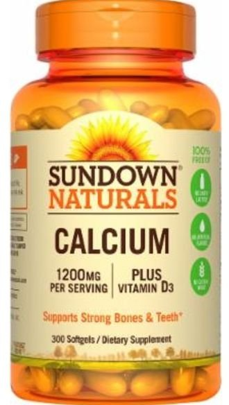 Cálcio (1200mg) + Vitamina D3 (1000ui) | 300 Softgels - Sundown Naturals