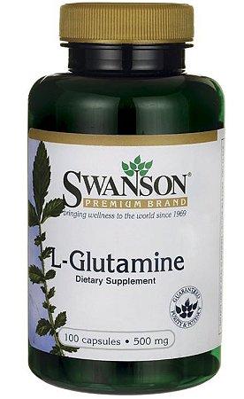 L-Glutamina 500mg | 100 Cápsulas - Swanson