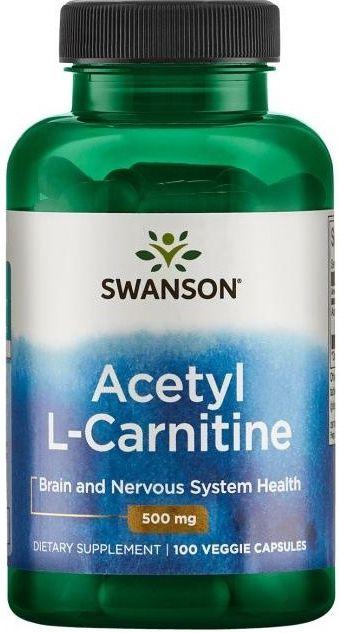 L-Carnitina 500mg | 100 Cápsulas - Swanson
