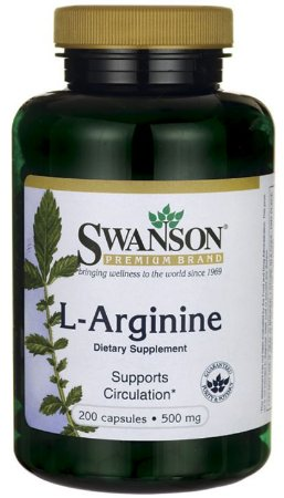 L-Arginina 500mg | 200 Cápsulas - Swanson