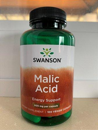 Ácido Málico (Malic Acid)  600mg | 100 Cápsulas - Swanson