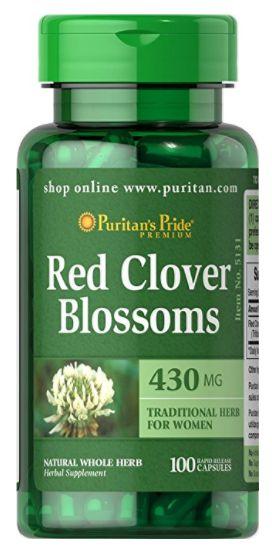 Trevo Vermelho (Red Clover) 430mg | 100 Cápsulas - Puritan's Pride