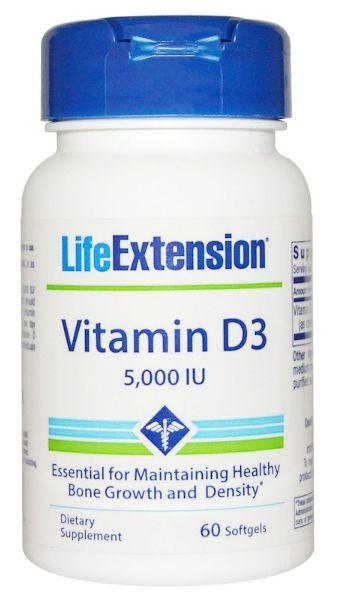 Vitamina D3 5.000Uui | 60 Softgels - Life Extension