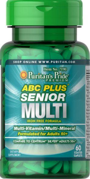 ABC Plus Multivitaminico Senior (Equivalente CENTRUM SILVER)| 60 Cápsulas - Puritan's Pride