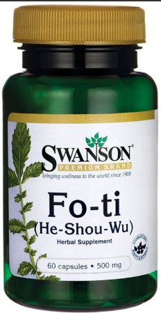 Fo-ti (He-show-wu) 500mg | 60 Cápsulas - Swanson