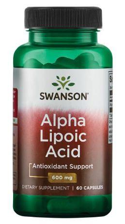 Ácido Alfa Lipóico (Alpha Lipoic Acid) 600mg | 60 Cápsulas - Swanson ULTRA