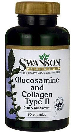 Glucosamina 1500mg & Colágeno Tipo II  750mg   90 Capsulas - Swanson